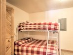 The twin-over-full bunk bed is perfect for kids.