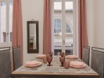 Sweet pastel colors for this beautiful apartment in the center of Rome