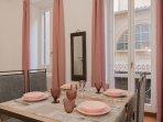 Sweet pastel colors in the livingroom