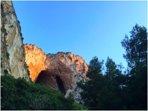 Vista delle Grotte dell'Addaura di Monte Pellegrino dalla Terrazza