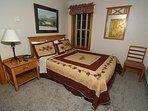 Upstairs BR # 2:  Pillowtop Queen Bed, Flat Screen TV, Corner Views