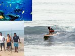 Deep sea trolling, surfing can be arrange from our beach.