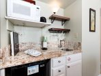 Another view of the cute kitchenette area
