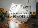 50% OFF is applicable for stays during April