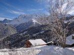 Nul  besoin d'aller loin pour apercevoir le Mont Blanc
