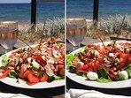 La fraîcheur des salades du snack de la base nautique