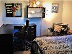 2nd floor full bed bedroom desk space
