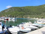 Polis on Ithaca. visited by boat hire from Fiskardo harbour.