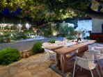 Guests are given the opportunity to relax in the nice and stylish outdoor spaces.