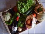 Cadeau de bienvenue... Légumes de saison de la ferme du village