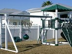 Let the kids play the day away on this modern play set