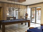 Come hang out and play pool in one of the lounge areas of the building!