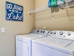Avoid overpacking since you'll have access to these in-unit laundry machines.
