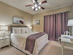 You'll find a comfortable queen bed in this second bedroom.