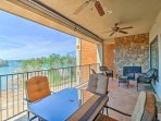 Up to 8 travelers will love the Lake Martin views from this unit's private balcony.