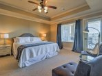 Let your body recharge with a deep sleep in one of the 3 bedrooms.