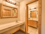Stay fresh for daily exploits in this full bathroom.
