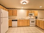 This spacious, fully equipped kitchen has everything you need to whip up home-cooked cuisine.