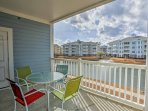 Enjoy the views of the Magnolia Pointe lake from your private balcony.