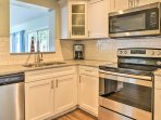 Whip up homemade meals with stainless steel appliances.