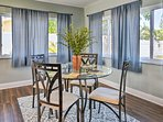 Enjoy coffee and a light meal around the 4-person breakfast table.