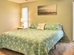 Retreat to the master bedroom for a restful night's sleep.