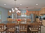 there's plenty of seating for all 20 guests at our dining room and island seating