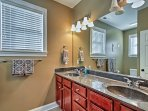 A third full bathroom provides additional privacy throughout your stay.