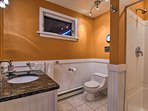 Wash off the trail dust in this bathroom's walk-in shower.