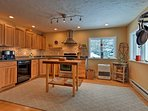 Thanks to the spacious layout, there are never too many cooks in this kitchen.
