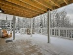 No matter the season, these porches provide a great location to marvel at the trees.