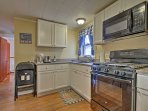 The kitchen was recently remodeled and upgraded with new appliances.