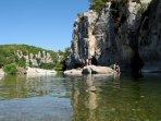 La rivière le Chassezac à 10 minutes du gîte