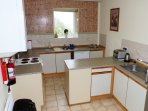 Self-catering kitchen, Ramsey Lodge.
