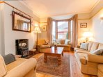 Ground floor double reception room with Marks & Spencer suite & smart TV