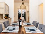 Large dining area for up to 8 guests