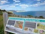 Jurassic Coast: vista dal parcheggio di Charmouth Road, Lyme Regis
