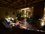 Await the dawn in our cozy livingroom