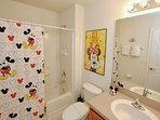 Upstairs Shared Hall Bath w/Shower & Tub Combination