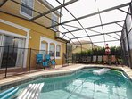Private Patio w/Splash Pool, Safety Fence, Patio Seating w/Sun Loungers & Lake View - View #2