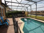 Private Patio w/Splash Pool, Safety Fence, Patio Seating w/Sun Loungers & Lake View - View #3