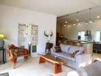 2 sofas and room for your family to relax and unwind!