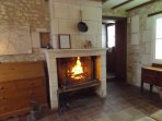 Enjoy the open log fire - logs are included in the price.