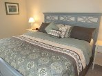 Master bedroom suite with king size comfortable bed and 700 count sheets!