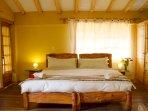 MAster King bedroom Comfort duvets, plenty of pillows!
