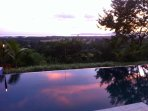 Sunsets on pool are magical..