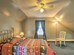 One guest can enjoy a private twin bed in this bedroom.