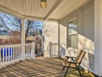 Enjoy the afternoon breeze on the porch.