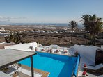 Private heated pool with fantastic sea and landscape view
