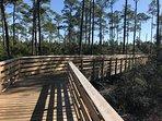 Miles of walking/ biking trails close by